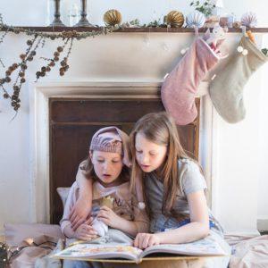 DREAMY CHRISTMAS STOCKING MAUVE