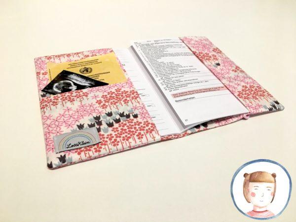 Mutterpasshülle - Rosa Blumen - Mutterpass Hülle