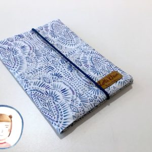 U-Heft Hülle - Blaues Muster