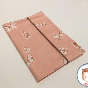 U-Heft Hülle - Schmetterling rosa