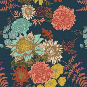 Art Gallery Fabrics - Autumn - Floral Glow Twilit