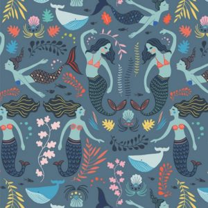 Art Gallery Fabrics - Sirena - Siren Song Twilight