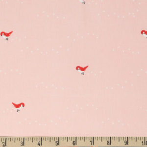 Birch Fabrics - Whistle - Tiny Steps Pink