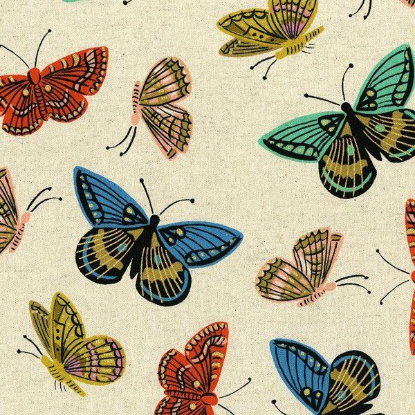 Cotton&Steel - English Garden - Monarch Natural Metallic (C)