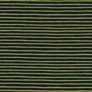 Cotton&Steel - English Garden - Stripes Navy Metallic
