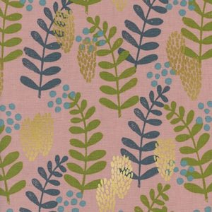 Cotton&Steel - Imagined Landscapes - Fern Dell Rose Metallic