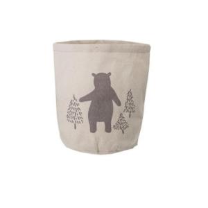 """Aufbewahrungskorb mit Allover-Print """"Bär und Bäume"""""""
