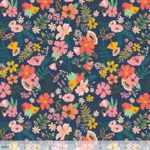 Blend Fabrics - Floral Pets - Gardenara Navy