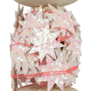 Meri Meri - Iridescent Glitter Star Garland Spool