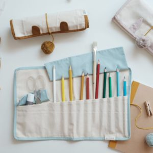 ROLL UP PENCIL CASE- BUNNY