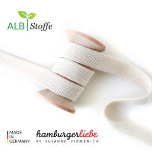 Alb Stoffe - Flachkordel GOTS - Albstoffe (meringa)