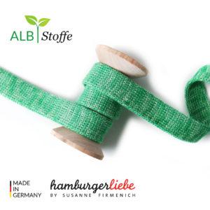 Alb Stoffe - Flachkordel GOTS - Albstoffe (verde melange)