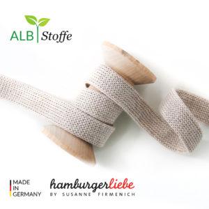 Alb Stoffe - Flachkordel GOTS - Albstoffe (yemen)