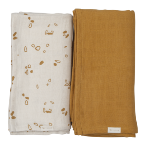 Fabelab - Swaddle - Printed and Solid Pack (Pine Cones)