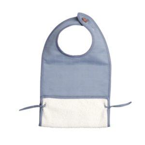 Fabelab - Muslin Feeding Bib (marina blue)