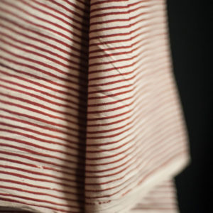 Merchant and Mills - Lean Stripe Tomato Indian Cotton