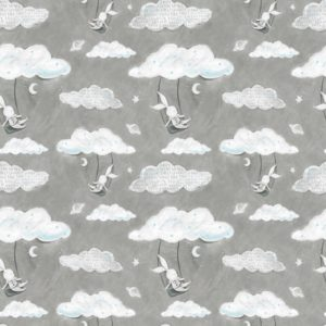 3 wishes fabrics - Adventures in the Sky - Swinging Gray