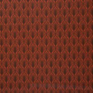 Swafing - Wachstuch Leona Blätter terracotta