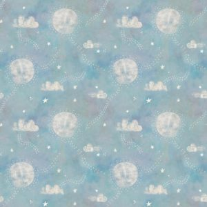 3 wishes fabrics - Adventures in the Sky - Pathways Turquoise