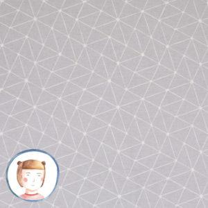 Swafing - Wachstuch Abstrakt Dreiecke hellgrau