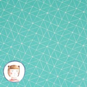 Swafing - Wachstuch Abstrakt Dreiecke türkis