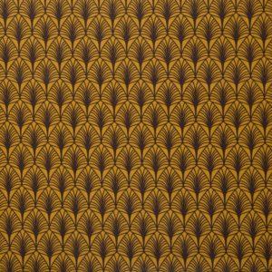 Swafing - Wachstuch Leona Blätter gelb