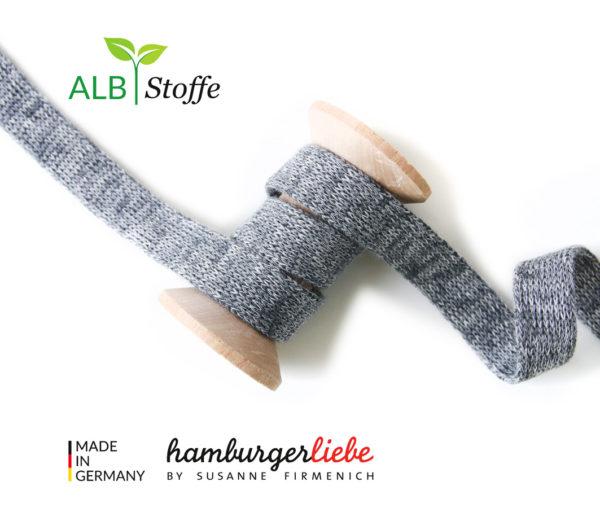 Alb Stoffe - Flachkordel GOTS 1
