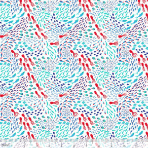 Blend Fabrics - Northern Sea - Squids Fish White
