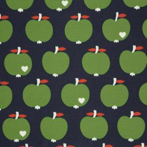 byGraziela - Wasserabweisender Canvas Äpfel (dunkelblau)