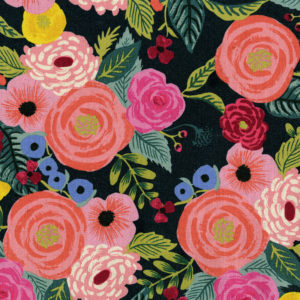 Cotton&Steel - English Garden - Juliet Rose Navy Canvas