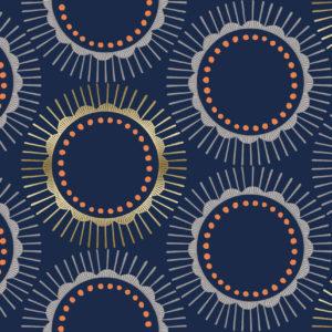 Cotton&Steel - Kibori - Tara Navy Metallic