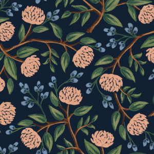 Cotton&Steel - Wildwood - Peonies Blue (canvas)