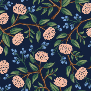 Cotton&Steel - Wildwood - Peonies Navy