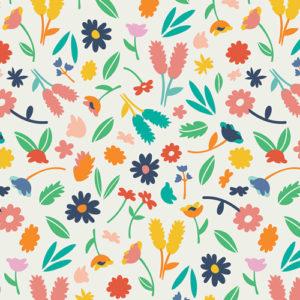 Art Gallery Fabrics - Summer Side - Breezy Blossoms Lemonade