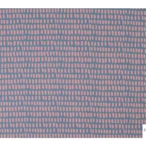 Lillestoff - Stripe/Stripe graublau/pastellrosa Modalsweat