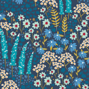 Art Gallery Fabrics - Catch & Release - Blue Bank Flora