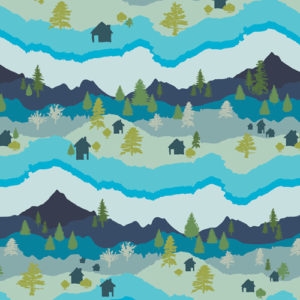Art Gallery Fabrics - Catch & Release - Mountain Scape
