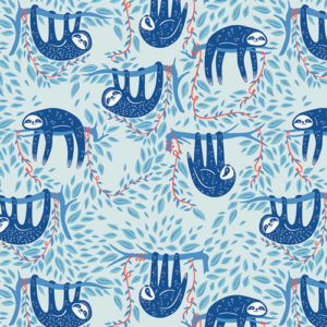Art Gallery Fabrics - Selva - Swaying Sloths Sky