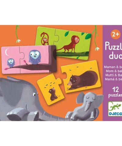 Djeco - Lernspiel - Puzzle duo/trio - Mami & Kind