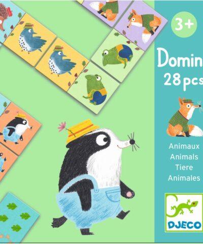 Djeco - Lernspiel: Domino Tiere