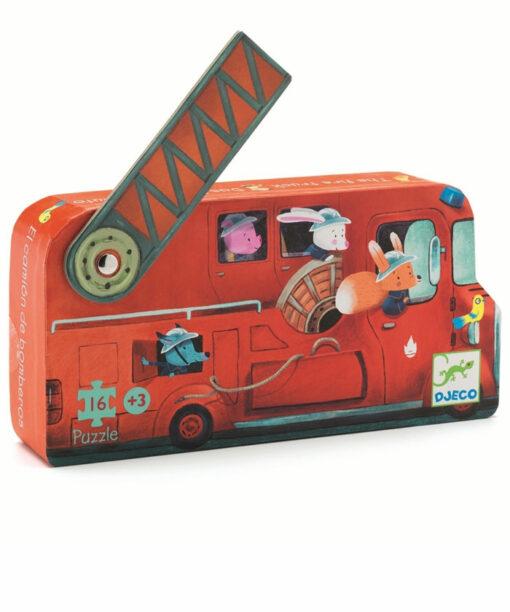Formen Puzzle: The fire truck - 16Stk. * von DJECO